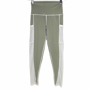 Aerie Chill Play Move Sage Mesh side Leggings
